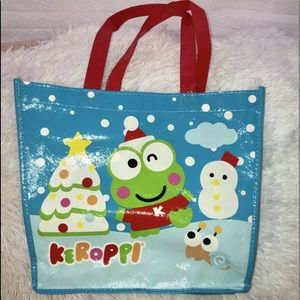 Keroppi Christmas Gift/Shopping Tote